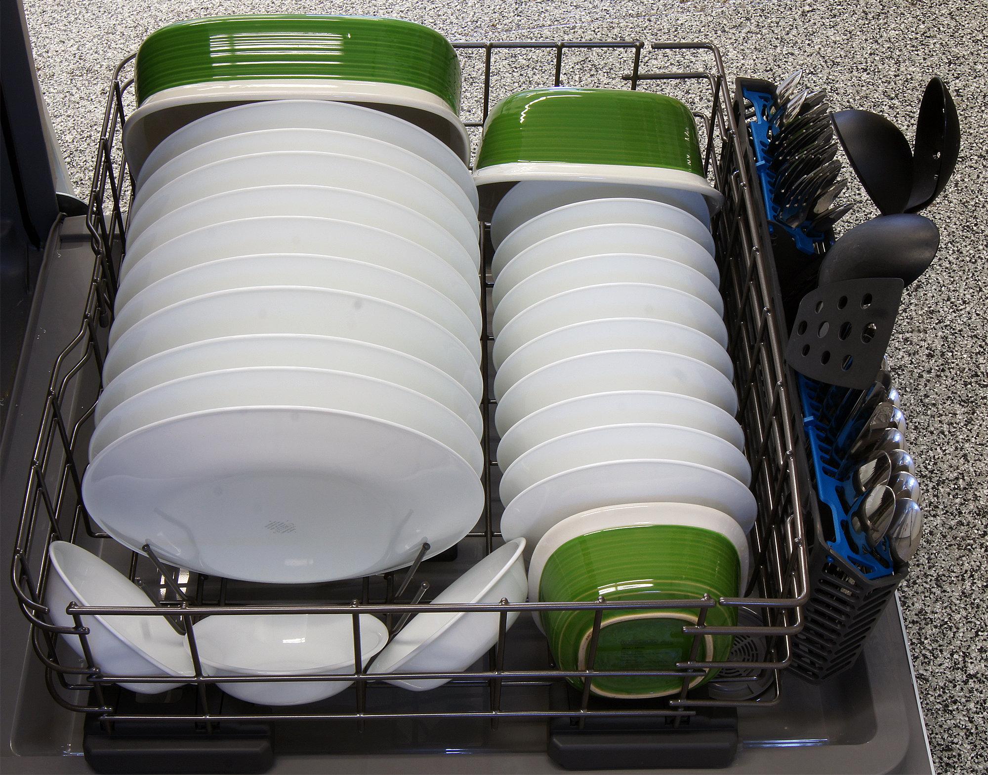 GE Artistry ADT521PGFWS bottom rack capacity