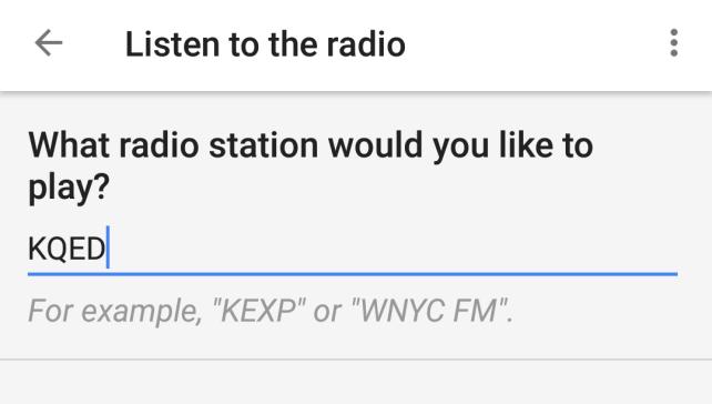 Google Routines Radio
