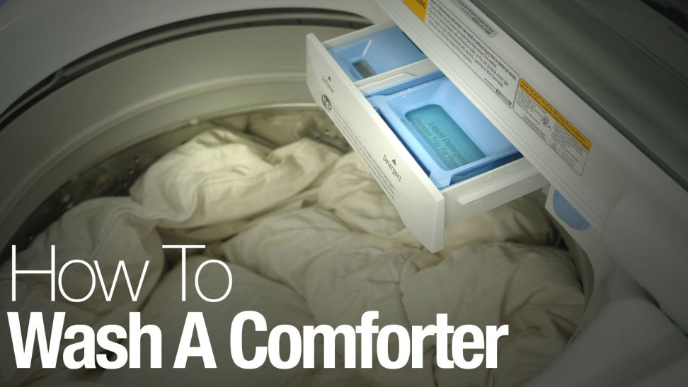 how to wash and dry a comforter or duvet in the washing machine at home. Black Bedroom Furniture Sets. Home Design Ideas