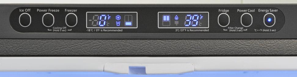 Samsung RF260BEAESR Controls