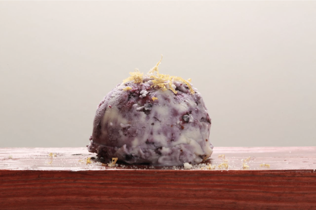Spun Blueberry Ice Cream