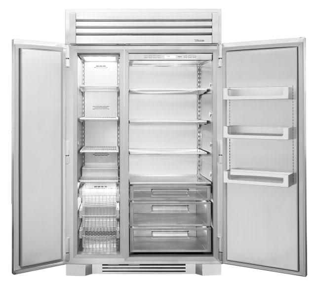 Inside the True 48 refrigerator.