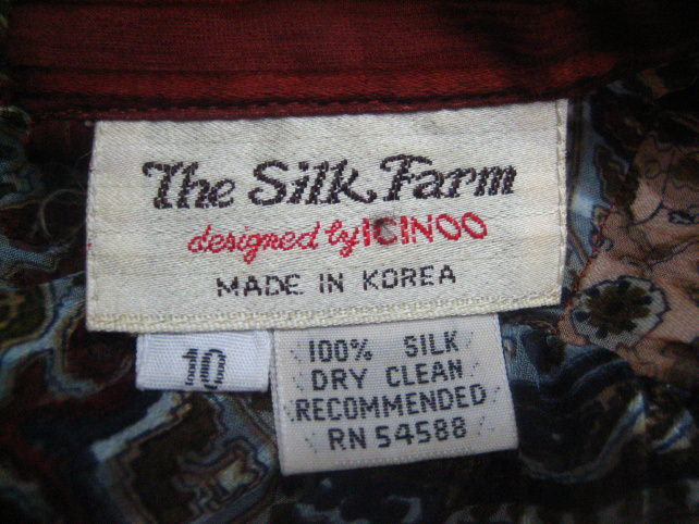 Silk Clothing Label