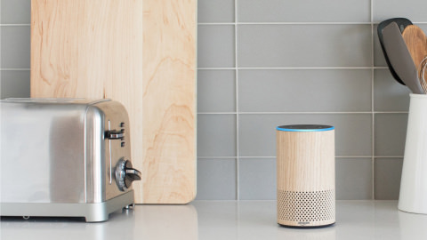 Amazon Echo in Oak