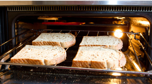 Toast in the oven is better