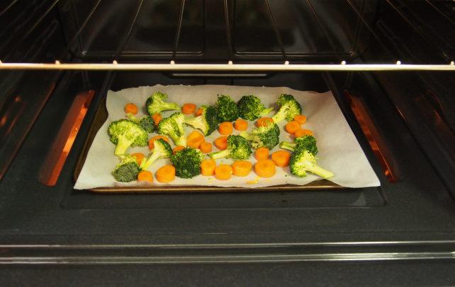 Veggies in oven