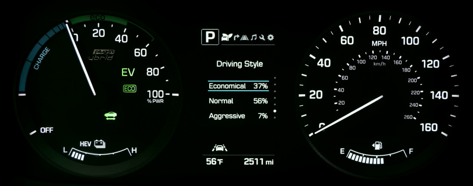 2016 Hyundai Sonata Plug-In Hybrid Driving Style Display