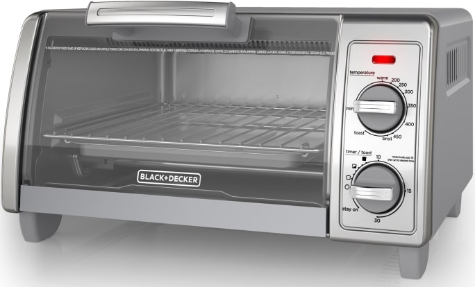 Product Image - Black & Decker 2-Knob 4-Slice Toaster Oven