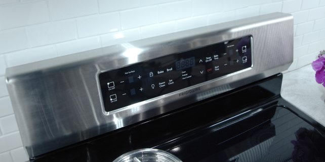 Frigidaire induction range controls