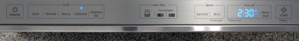 Samsung DW80H9930US—Controls