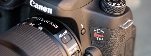 Canon rebel t6s review design hero