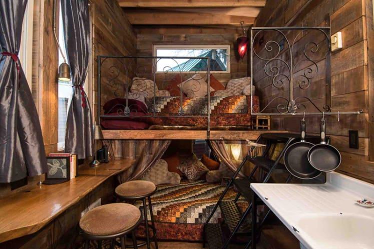 tiny house fridge. Credit: Tiny House Hotel Fridge C