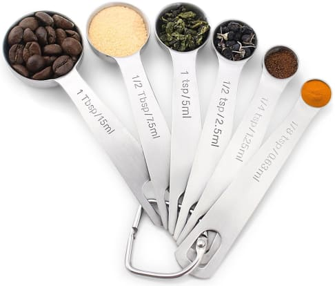 Product Image - 1Easylife Stainless Steel Measuring Spoons, Set of 6