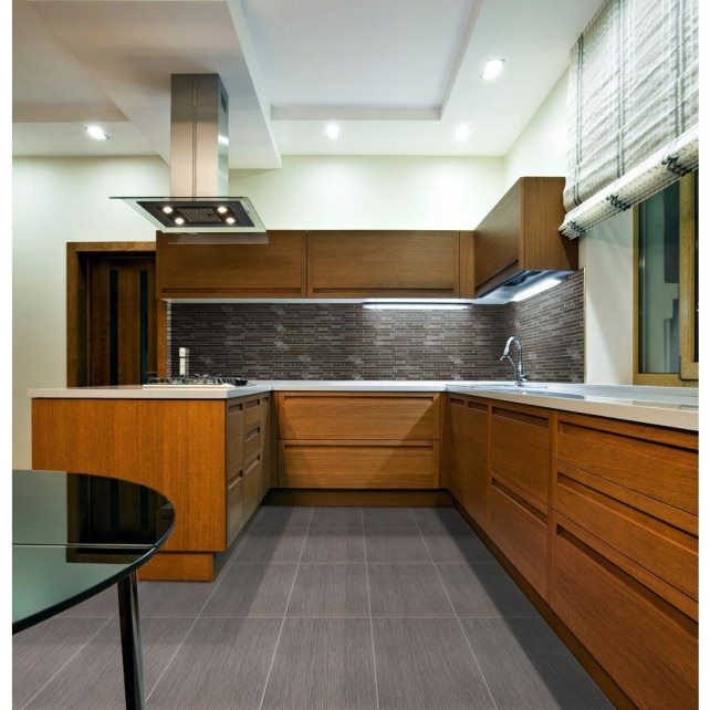 MS International Wood Grain Tile Kitchen Flooring