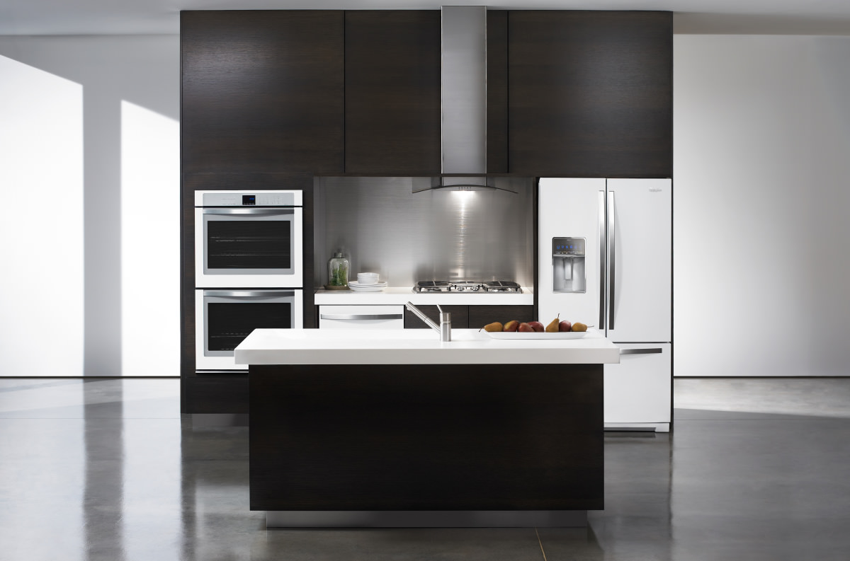 Whirlpool white ice line - So Long Stainless Whirlpool Introduces A New Finish For Premium Kitchens Reviewed Com Refrigerators