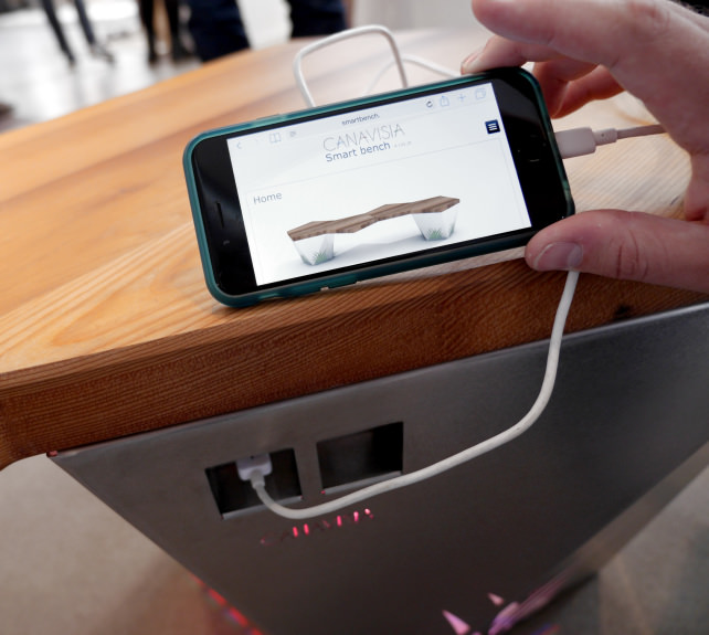 Smart Bench Plugged In