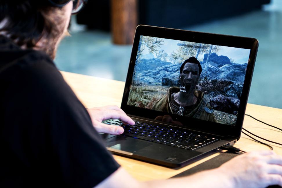 This laptop is half MacBook Pro, half gaming rig