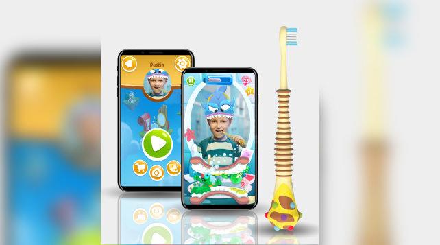 Magik AR-enabled toothbrush for kids