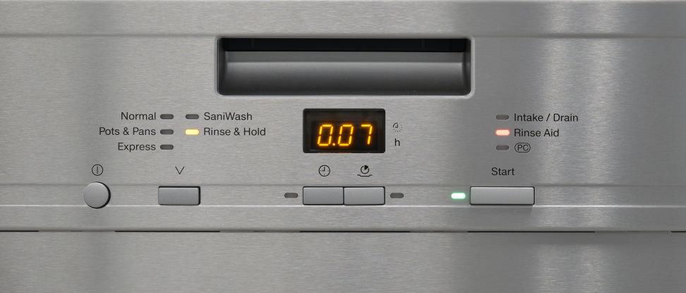 Miele G4925SCU—Control Panel