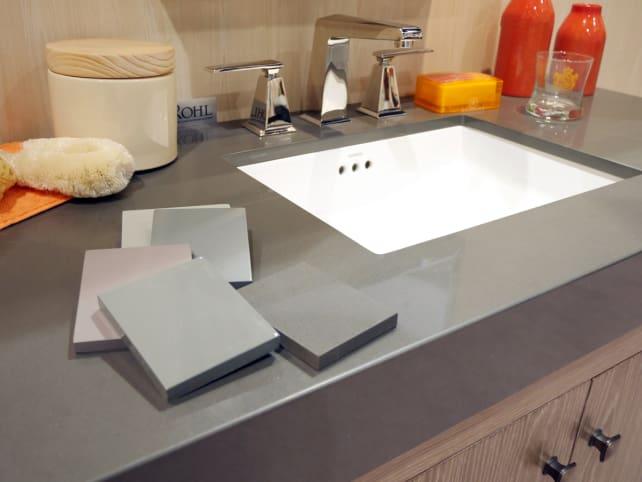 Ronbow gray stone top vanity