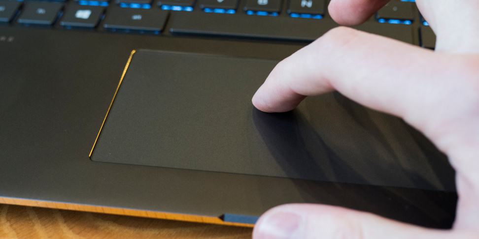HP Spectre X360 15-inch touchpad