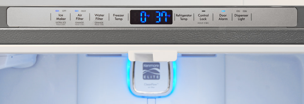 Kenmore Elite 74025 Controls
