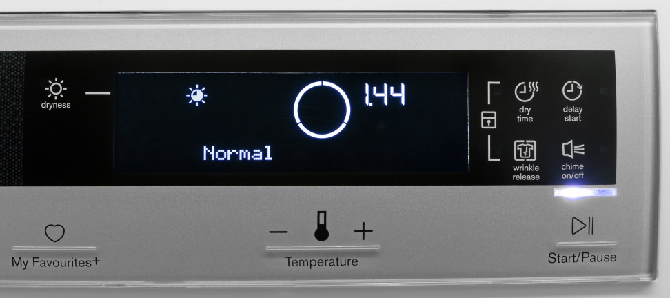 Electrolux EIED200QSW Controls