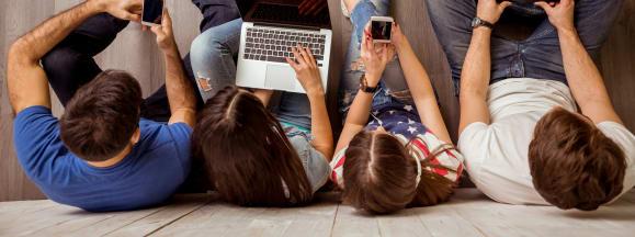 Laptop buying financing smartphone hero