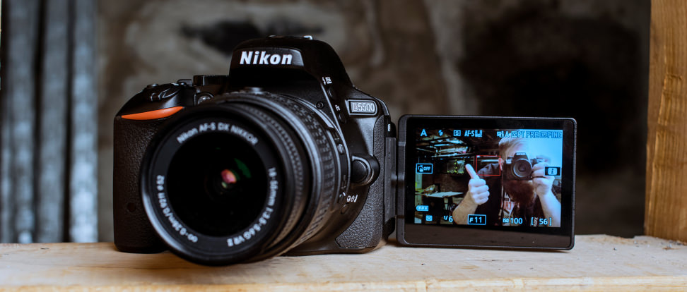 Nikon D5500 | Touch Screen DSLR Camera with Built-in WiFi