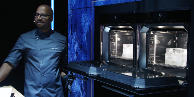 Miele Dialog — Ice blocks that contain fish