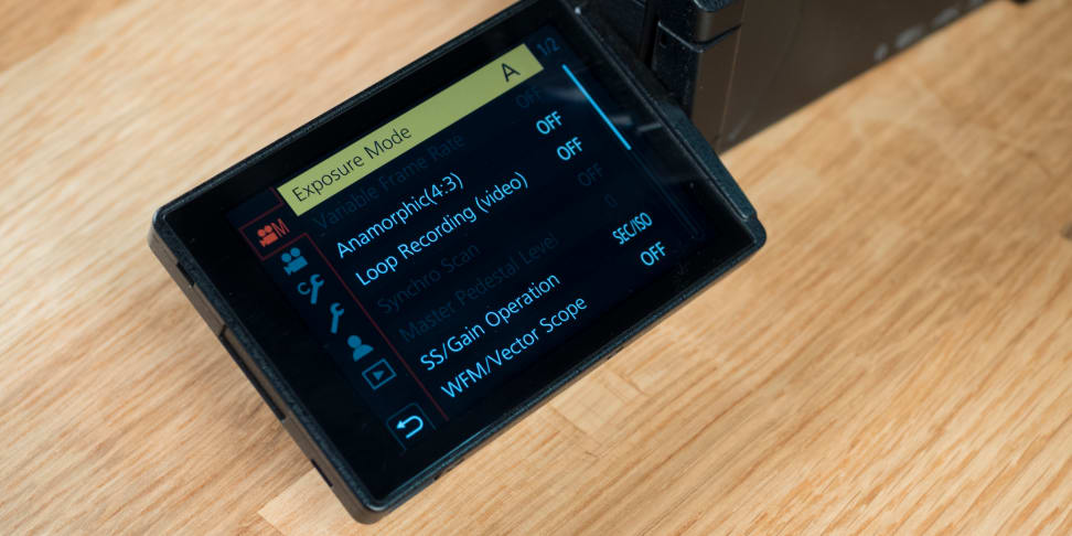 Panasonic Lumix GH5 screen