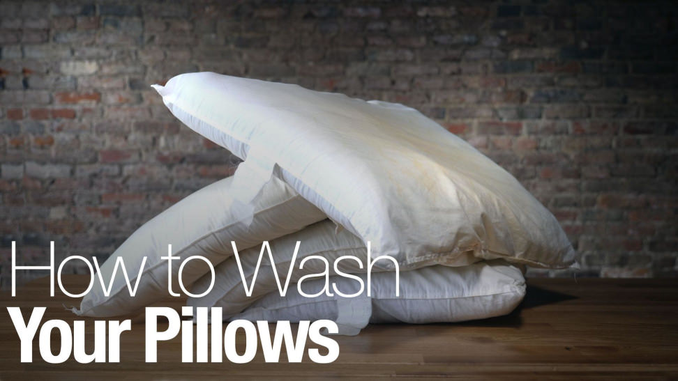 how to wash pillows in the washing machine laundry. Black Bedroom Furniture Sets. Home Design Ideas