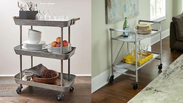 Silver Storage Carts