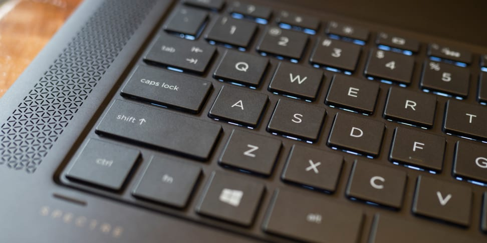 HP Spectre X360 15-inch keyboard
