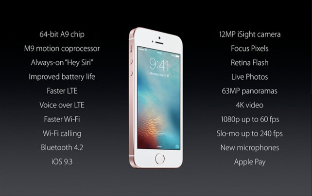 Apple iPhone SE Specs