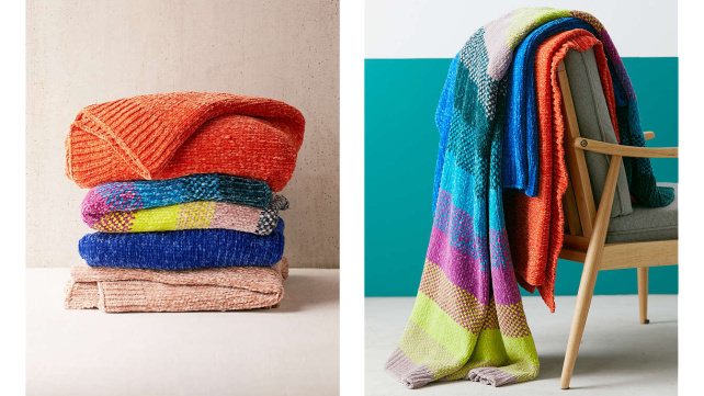 Urban Outfitters Chenille Blanket